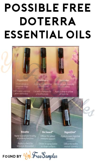 Possible FREE doTERRA Essential Oils