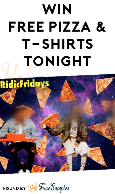 Win FREE Pizza & T-Shirts Tonight From MTV's Ridiculousness (Twitter Required)