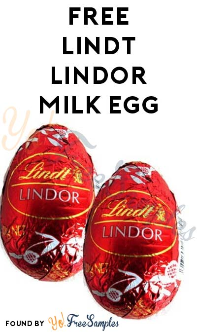 TODAY ONLY: FREE Lindt Lindor Milk Egg At Kroger, Fry's, Ralphs, Dillons & Others