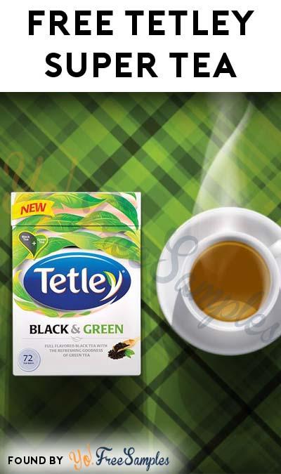 FREE Tetley Super Tea Immunity or Metabolism Sample