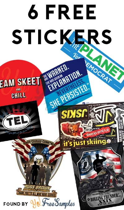 6 FREE Stickers Today: Elizabeth Warren She Persisted Sticker, Team Skeet (NSFW) Stickers, Save The Planet Sticker, TEL Sticker, J Skis Stickers & Russ Brown Thank You to All Who Have Served + Rolling Thunder 2016 Sticker