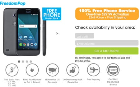 free cell phone service providers freedomPop