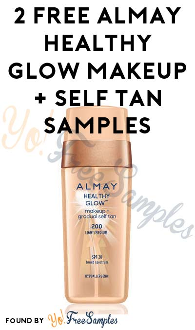 2 FREE Almay Healthy Glow Makeup + Self Tan Samples From CrowdTap ...