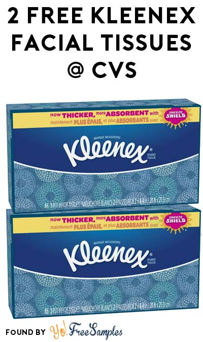 2 FREE Kleenex Facial Tissues 85-Count + Profit At CVS (Coupons & Checkout51 Required)