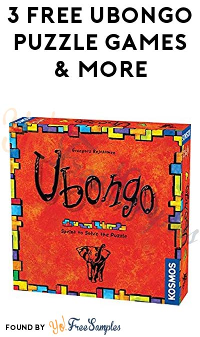 3 FREE Ubongo Puzzle Games & More (Must Apply To Host Tryazon Party)