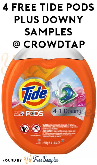 4 FREE Tide PODS Plus Downy Samples From CrowdTap (Mission Required)