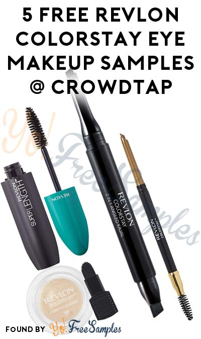 5 FREE Revlon ColorStay Eye Makeup Samples From CrowdTap (Women Only, Mission Required)