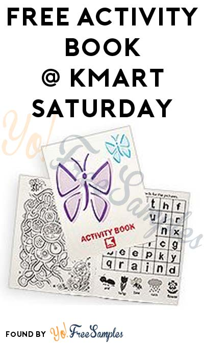 FREE Activity Book At Kmart's Freebie Saturday Event
