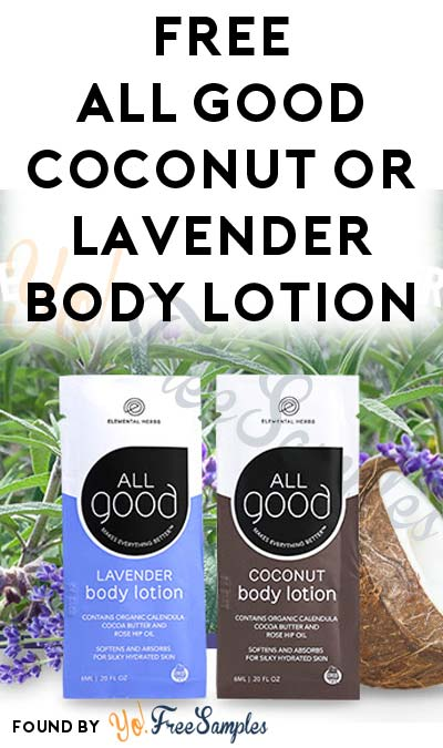 FREE All Good Coconut or Lavender Body Lotion