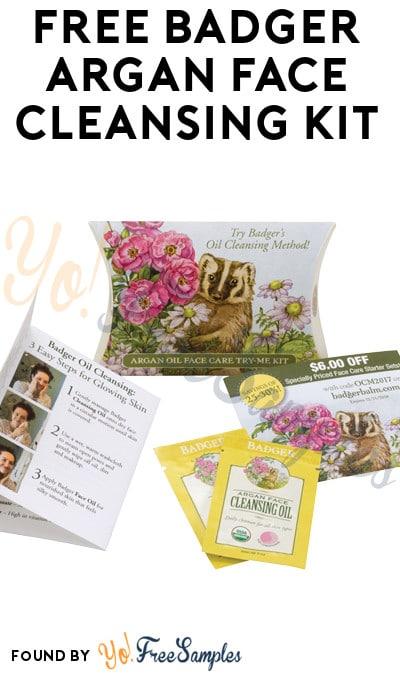 FREE Badger Argan Face Cleansing Kit