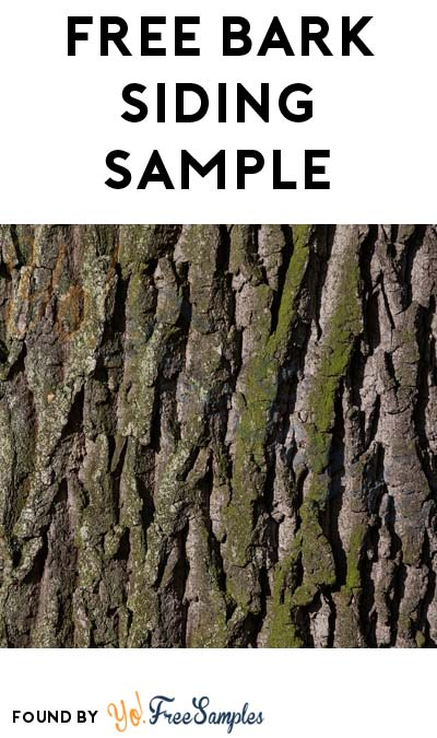 FREE Bark Siding Sample