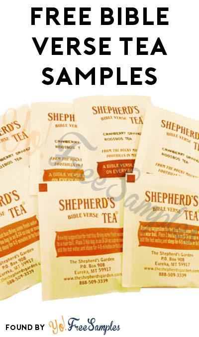 FREE Bible Verse Tea Samples
