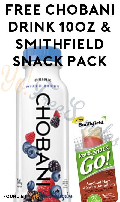 TODAY ONLY: FREE Chobani Drink 10oz & Smithfield Snack Pack (Farm Fresh Only) At Farm Fresh, Hornbachers, Shop 'N Save, Shoppers & Cub Stores