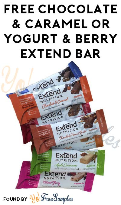FREE Chocolate & Caramel or Yogurt & Berry Extend Bar