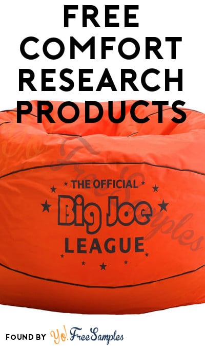 FREE Big Joe Comfort Research Products For Joining Review Program (Survey Required)
