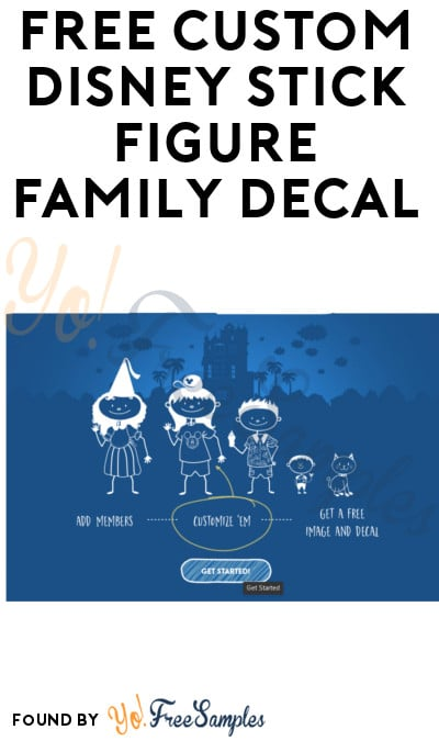 FREE Custom Disney Stick Figure Family Decal [Verified Received By Mail]