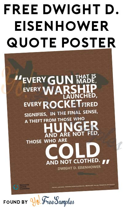 FREE Dwight D. Eisenhower Quote Poster (Email Required)