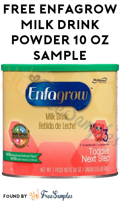 FREE Enfagrow Toddler Milk Drink Powder 10 oz Sample [Verified Received By Mail]