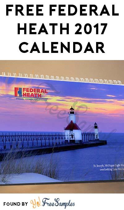 FREE Federal Heath 2017 Calendar