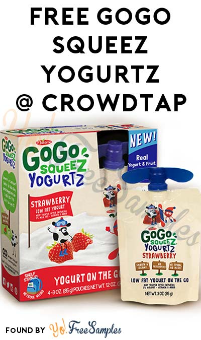 FREE GoGo squeeZ YogurtZ From CrowdTap (Mission Required)