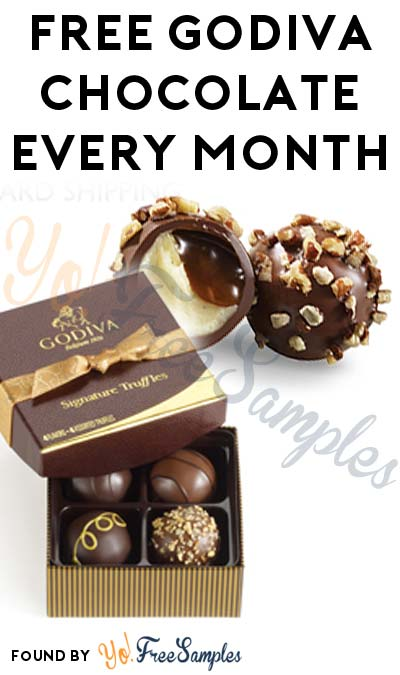 FREE Godiva Chocolate Every Month For Active Godiva Rewards Club Members (In-Store Only)