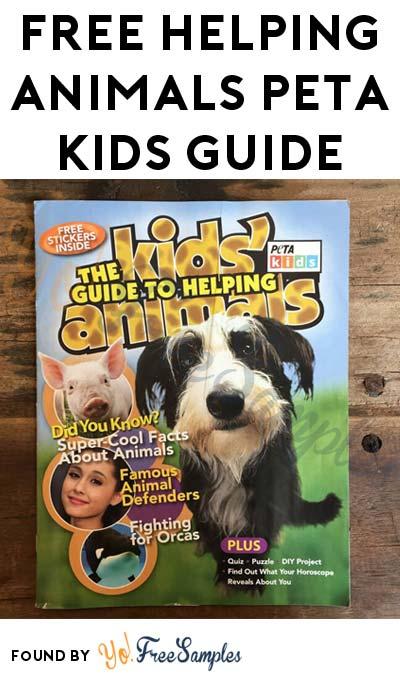 FREE Helping Animals PETA Kids Guide
