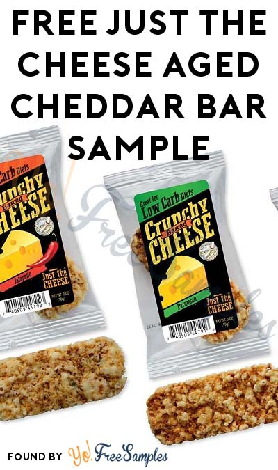 FREE Just The Cheese Aged Cheddar Bar Sample  ?