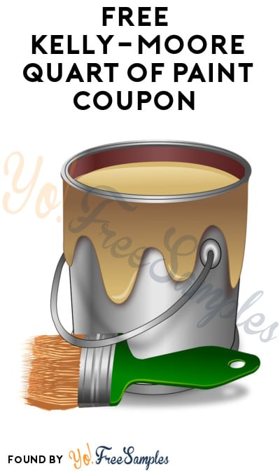 graphic about Benjamin Moore Paint Coupons Printable named Absolutely free Kelly-Moore Quart Of Paint Coupon (Within just-Retailer Simply just) - Yo