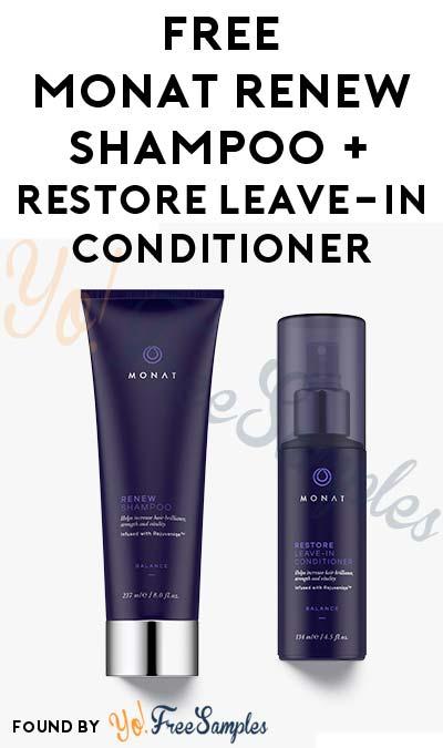 FREE MONAT RENEW Shampoo and RESTORE Leave-In Conditioner