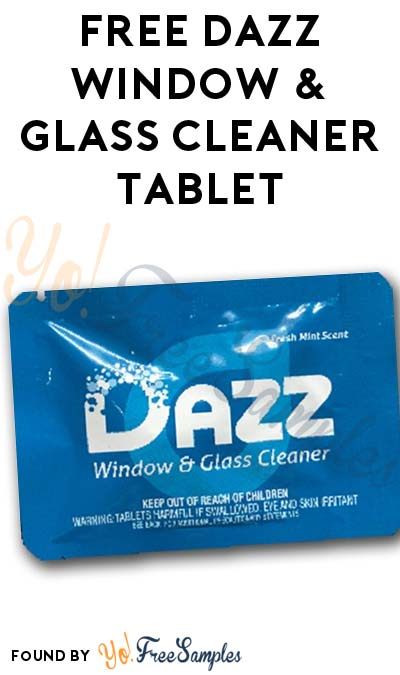 FREE Mint DAZZ Window & Glass Cleaner Tablet