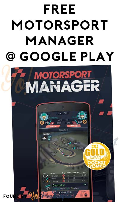 FREE Motorsport Manager Game On Android/Google Play (Normally $2.99)