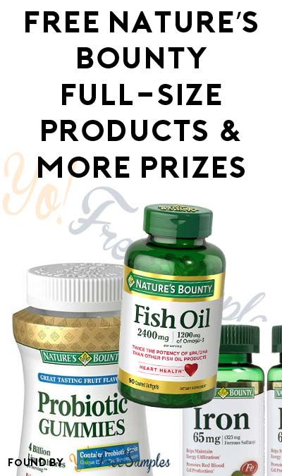 FREE Nature's Bounty Full-Size Product, 3-Month Product Supply & More Prizes From Natures Bounty Rewards Program [Verified Received By Mail]