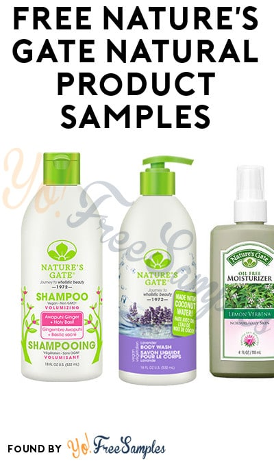 FREE Nature's Gate Natural Product Samples (Survey Required)