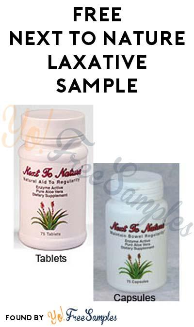FREE Next to Nature Laxative Sample From Flourish Wellness