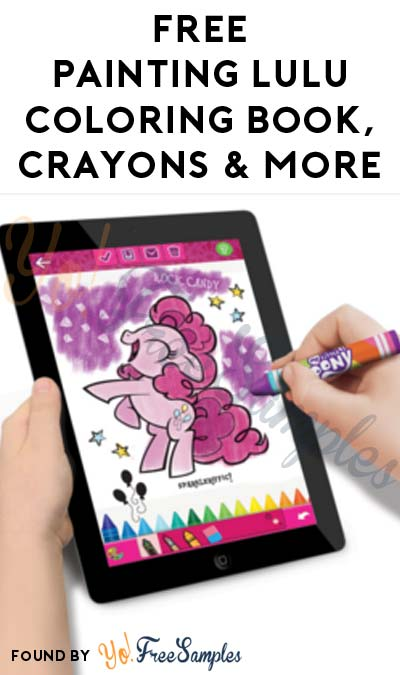 FREE Painting Lulu Coloring Book, Normal + Digital Crayons, App & More (Must Apply To Host Tryazon Party)