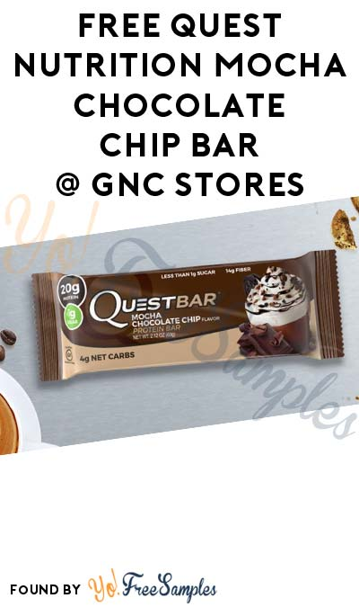 TODAY (3/21) ONLY: FREE Quest Nutrition Mocha Chocolate Chip Bar At GNC (In-Store)