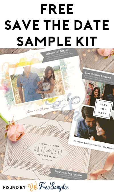 FREE Save The Date Sample Kit With Magnet, Postcard & More