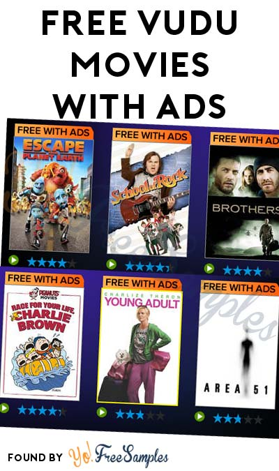 FREE VUDU Movies With Ads - Yo! Free Samples