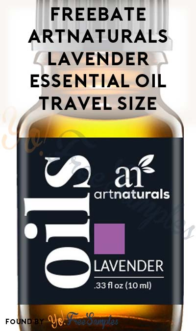 FREEBATE ArtNaturals Lavender Essential Oil Travel Size (New TopCashBack Members Only)