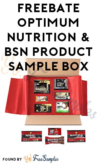 FREEBATE Optimum Nutrition & BSN Product Sample Box (Amazon Prime Members Only) [Verified Received By Mail]