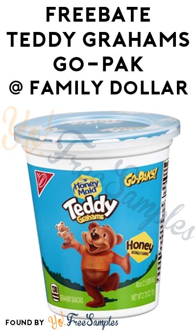 FREEBATE Teddy Grahams Go-Pak At Family Dollar (Checkout51 Required)