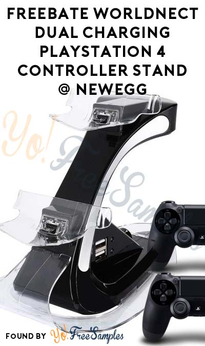 FREEBATE Worldnect Dual Charging PlayStation 4 Controller Stand From NewEgg