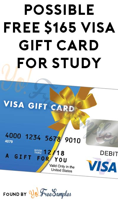 Possible FREE $165 VISA Gift Card For Participating In National Data Research Study (Survey & Study Required)