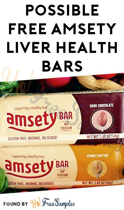 Possible FREE Amsety Liver Health Bars (Must Apply)