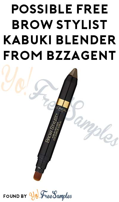 Possible FREE Brow Stylist Kabuki Blender From BzzAgent