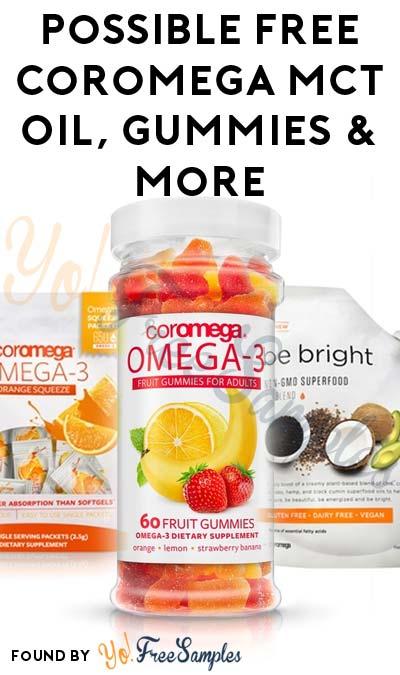 Possible FREE Coromega MCT Oil, Gummies & More From Ambassador Program