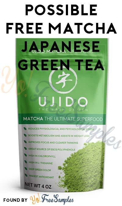 Possible FREE Matcha Japanese Green Tea (Must Apply)