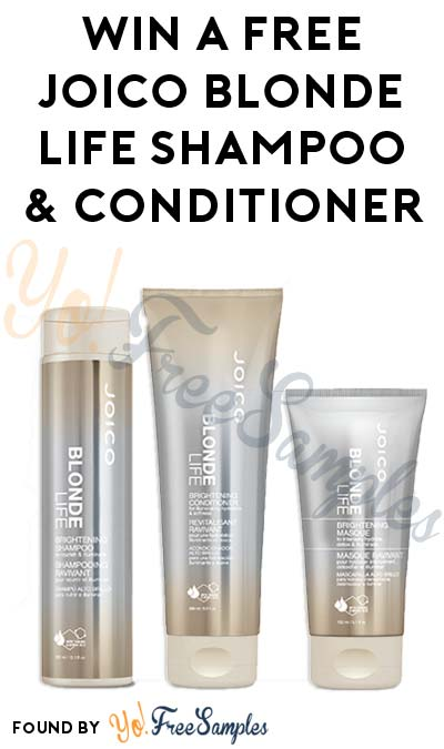 Win A FREE Joico Blonde Life Shampoo & Conditioner Foil Duo-Packette (Quiz Required)