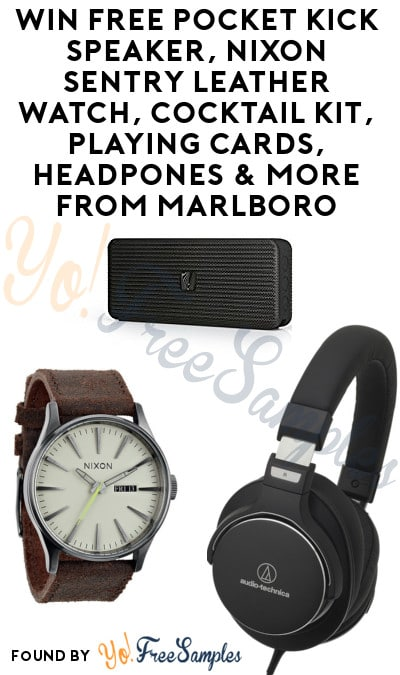Enter Daily: Win FREE Pocket Kick Speaker, Nixon Sentry Leather Watch, Cocktail Kit, Playing Cards, Headpones & More From Marlboro's Top Shelf Flavor Sweepstakes