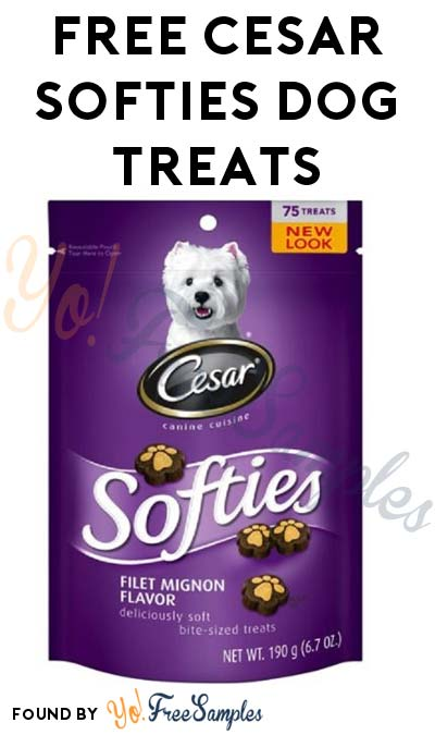 Possible FREE Cesar Softies Dog Treats From BzzAgent